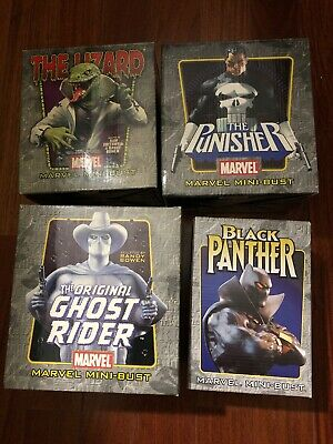 Marvel Mini Bust -The Punisher, Ghost Rider, Black Panther, Lizard Bowen Designs