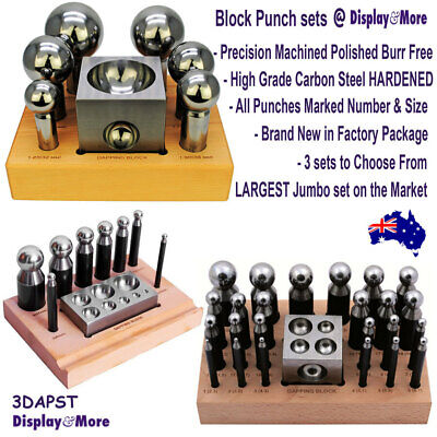 DOMING Dapping Tool Block PUNCH set | RELIABLE Forming Shaping Kit | AUS Stock