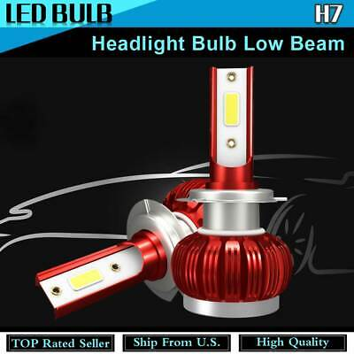 Set of 2 H7 LED Headlight Bulb Low Beam For 2017 Land Rover Discovery Red KU27