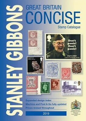 Stanley Gibbons 2019 Great Britain Concise Stamp Catalogue FREEPOST