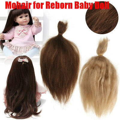 Mohair for Rooting Reborn Baby Doll DIY Supplies Doll Kit Gold Brown Handmade