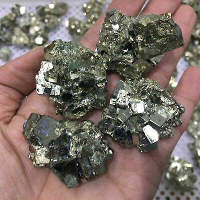 1x Pyrite Chalcopyrite Mineral Crystal Natural Ore Teaching Specimens Fool Gold