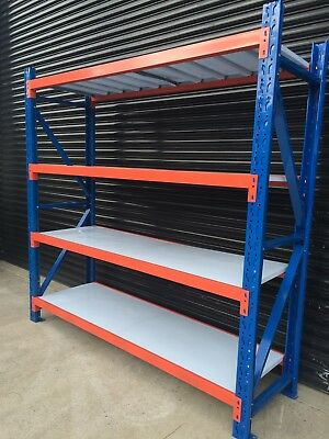 2M Length 0.5m Deep Garage Warehouse Metal Steel Storage Shelve Racking Shelving