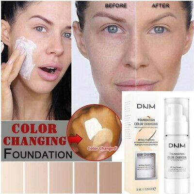 DNM Liquid Foundation Long Lasting Brighten Concealer Coverage Shade Makeup zbjf