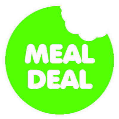 Meal Deal Green Round Sticker For Baking Cooking Food Packaging