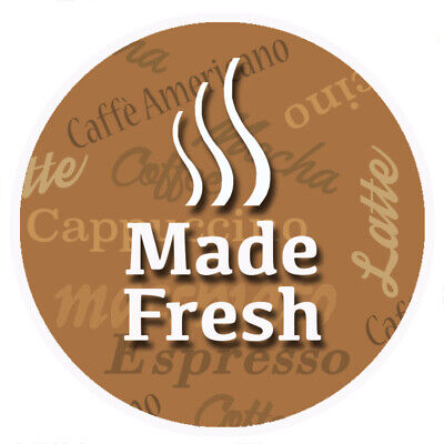 Made Fresh Brown Round Sticker For Baking Cooking Food Packaging