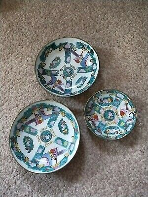 pair of early 20th centry Chinese export Canton style big bowls