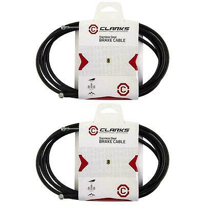 Clarks 6086 Stainless Steel Bicycle Brake Cable//Black