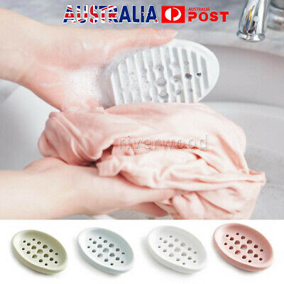 Soap Holder  Home Dish Bathroom Shower Storage Plate Stand Dishes Container Tray