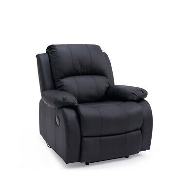 Studio Leather Electric Auto Recliner Seater Lounge Armchair Sofa Gaming Chair