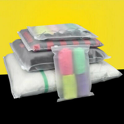 Resealable Matte Clear Plastic Zip Lock Clothes Bags Food Grade Storage Package