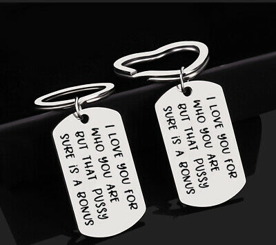 I Love You For Who You Are Car Key Holder Keychain Birthday Boyfriend Keyring