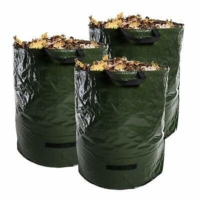 3x Heavy Duty Garden Reusable Waste Leaves Bags 120L Waterproof Refuse Sacks
