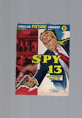 THRILLER PICTURE LIBRARY No. 424 SPY 13 Of World War II   1'-