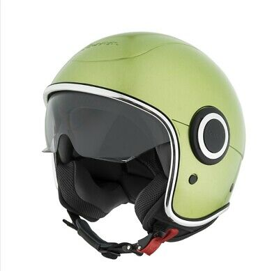 Vespa Open Face Scooter Helmet Green