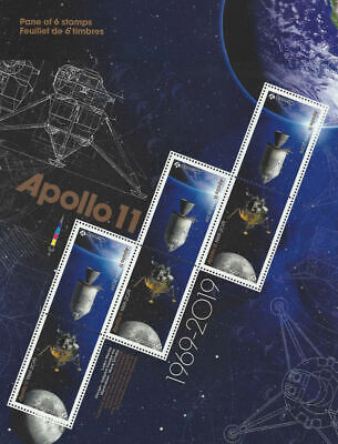 2019- Apollo 11 : Permanent Domestic Stamps- Pane of 6 stamps MNH