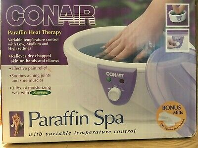 Conair Paraffin Heat Therapy variable Temp control Model PB3W