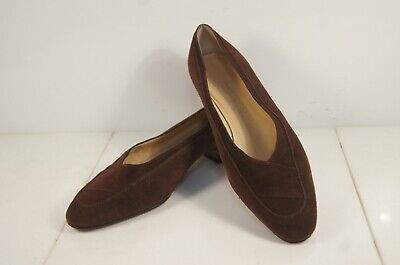 Gorgeous Silvia Fiorentina Brown Suede Low Heel Pumps 39 M / 8.5 B