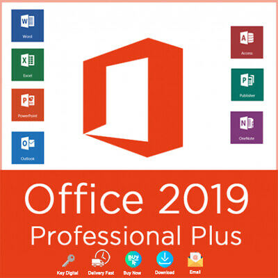 Office 2019 Pro Plus 32/64 Bit Dowload License For 1PC Genuine