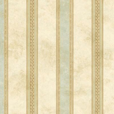 DOLLHOUSE WALLPAPER 1:12 SCALE MEDALLION PANEL PAPER GOLD W//GREEN 2576