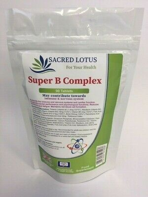Super Vitamin B Complex(B1,B2,B3,B5,B6,B7,B9,B12) Energy & Metabolism 90 Tablets