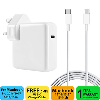 87W USB C Power Adapter Compatible with Macbook Pro / Air Charger , Works With &