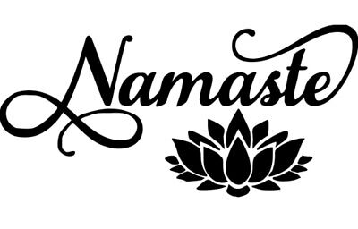 Namaste Flower Vinyl Decal 6x2.9 Inches Choose Color Car/SUV/Truck