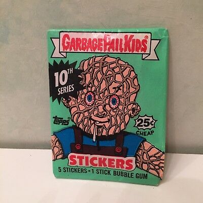 Garbage Pail Kids 5 stickers pack Series 10 Unopened Topps Bubble Gum Crados