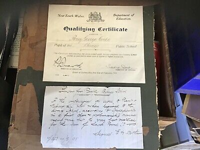 Rare old Bango creek school near yass documents 1893 & certificate ephemera