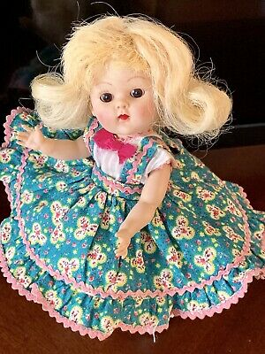 Vintage 1952 Vogue Ginny Doll In #52 Edie Square Dance Outfit