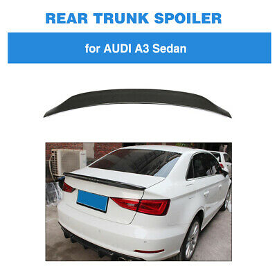 Carbon Fiber Rear Trunk Boot Lip Wing Spoiler For Audi A3 S3 RS3 Saloon 14-19