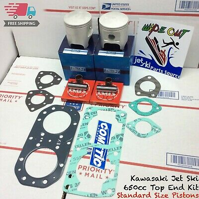 KAWASAKI 650 SX X2 Ts Jet Mate Top End Rebuild Kit Piston Gasket Std