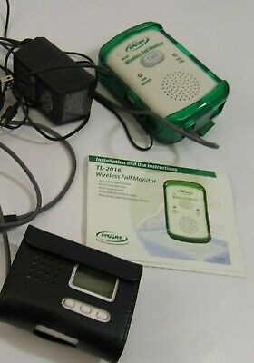 Smart Wireless Fall Monitor and Pager Power Cord and Cases