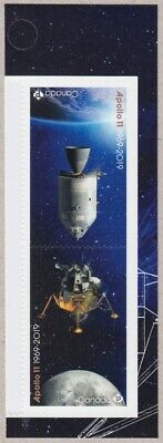APOLLO 11 MOON LANDING 50th = Tête-Bêche Pair from MIDD BK page Canada 2019 MNH