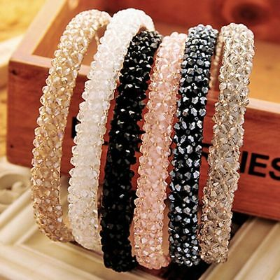 Fashion Women Girl Crown Crystal Headband Headwear Ornament Rhinestone Hair Band