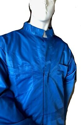 automotive paint spray coverall auto breathable anti-static carbon reusable blue