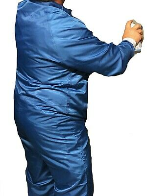 Reusable automotive paintspray paint coverall anti static carbon 1% w CUFFS