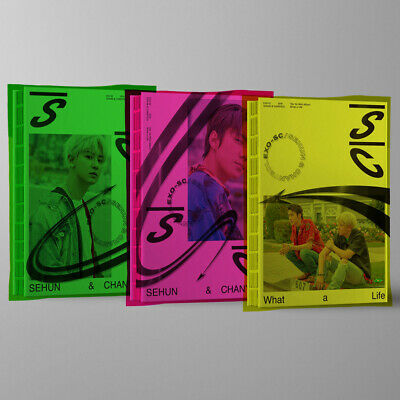 EXO-SC WHAT A LIFE Album 3 Ver SET+1p POSTER+3Book+6Card+3F.Poster+3Tag+3Sticker