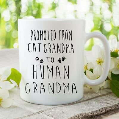 First Time Grandma Promoted to Grandparent Mug Pregnancy Announcement New Cat
