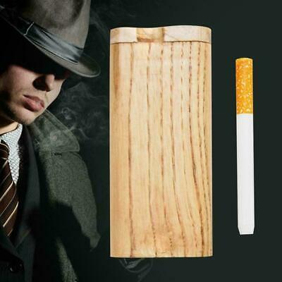 For Wood Dugout One Hitter Exotic Wood Slide Top Cigarette Case Holder