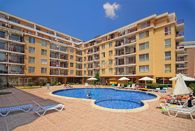 Furnished Studio for sale in Sunny Beach, 350 meters from Cacao Beach Ref. 6217
