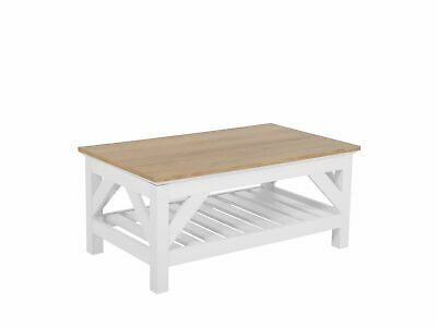 Savannah 100 60 Cm Bois Table Basse Clairblanc X 2WEDH9I