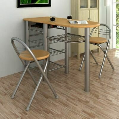 Set De 1 Table 2 Chaises Mange Debout 117 X 40 X 85 Cm