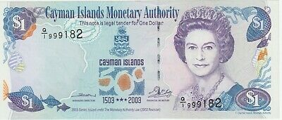 Cayman Islands 1 Dollar Banknote 2003 500 Anniversary Choice About Uncirculated