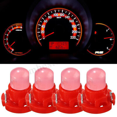 4x T4 Neo Wedge Climate Base LED Cluster Instrument Dash Bulb Light Lamp Red