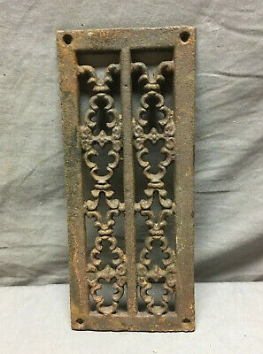 Antique Cast Iron Fireplace Grill Grate 4x11 Wall Ceiling Vent Old Vtg 435-19L