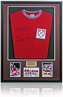West Ham United Replica Shirt Hand Signed By Sir Geoff Hurst & Martin Peters