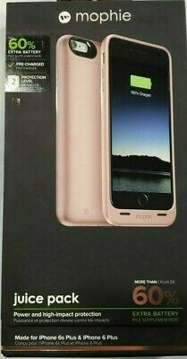 Mophie Juice Pack Battery Case for iPhone 6 Plus/6S Plus (2600mAh) Rose Gold New