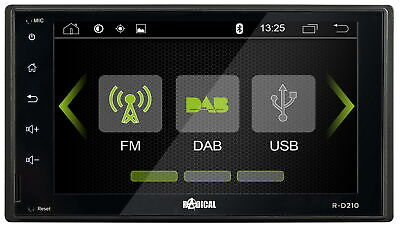 RADICAL R-D210 Auto Radio Infotainer Moniceiver Touch Screen DAB+ Bluetooth UKW