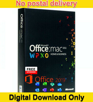 Microsoft Office Home and Business 2011 + Free Upgrade to Office 2019 for Mac